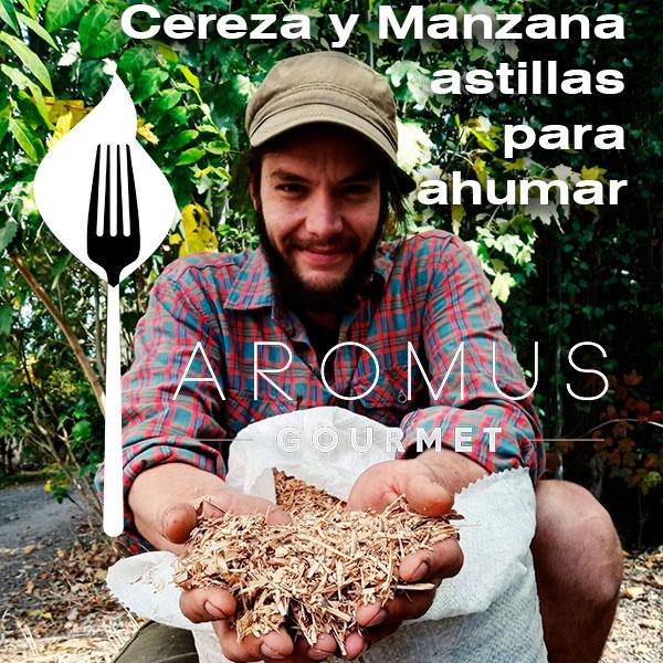 ASTILLAS DE MANZANA Y CEREZA